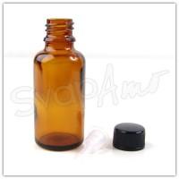 Bottiglia in vetro 30ml con contagocce raso.