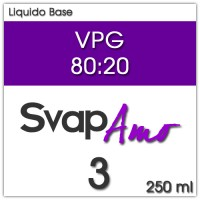 Liquido Base VPG 80:20 3mg 250ml - SvapAmo