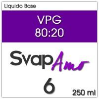 Liquido Base VPG 80:20 6mg 250ml - SvapAmo