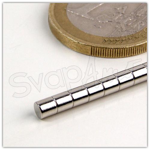 Magnete Neodimio Ø3x2mm