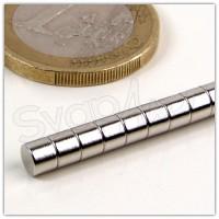 Magnete Neodimio Ø4x2mm