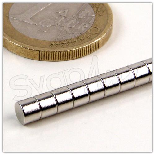 Magnete Neodimio Ø4x1,5mm