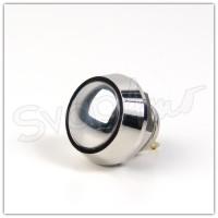 Pulsante 12mm Cromato - Pin a Saldare