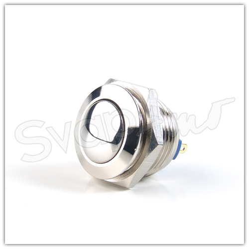 Pulsante 16mm Cromato - Pin a Saldare